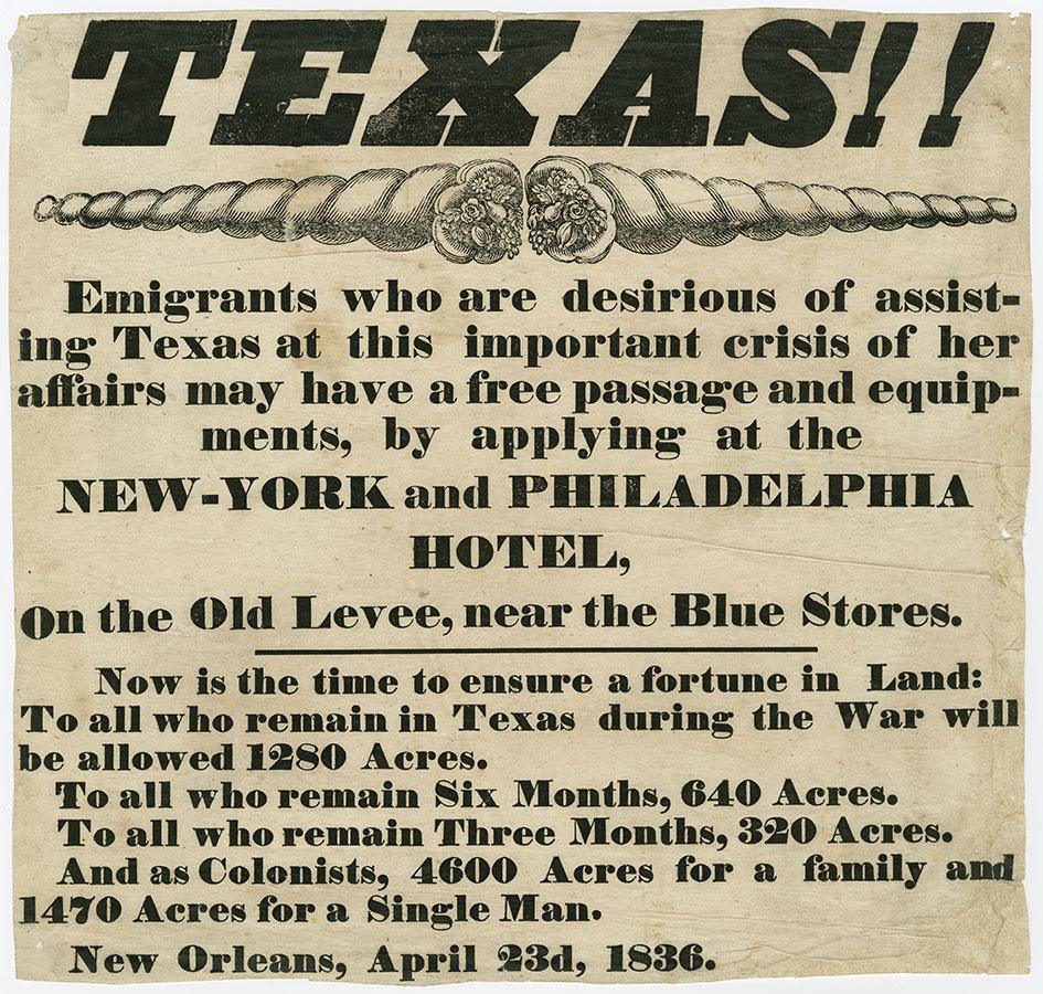 Texas!! broadside, April 23, 1836. bc_0258
