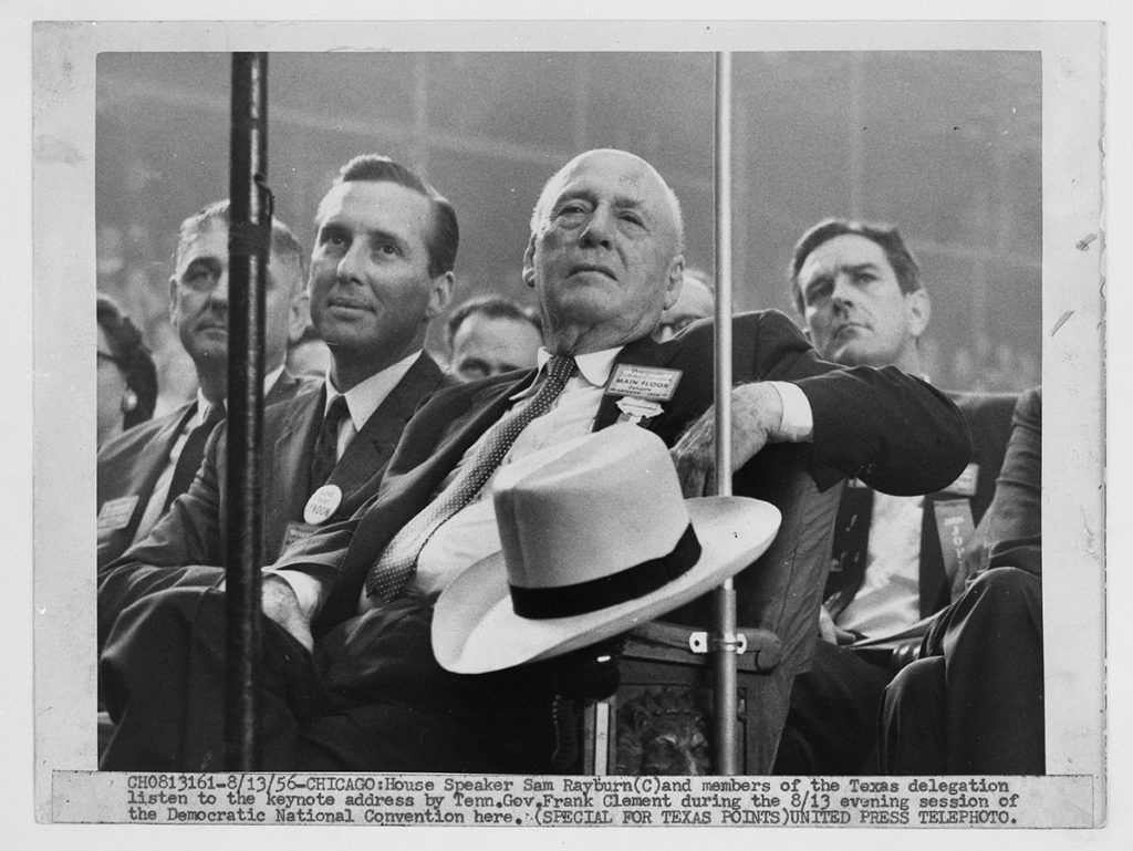Members of the Texas delegation at the 1956 Democratic National Convention, August 13, 1956. Sam Rayburn Papers. di_00495