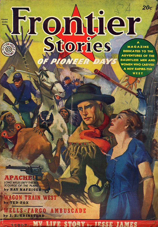 Front cover of Frontier Stories, 1938. di_02156