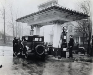 Standard Oil Company service station, ca. 1920–30. ExxonMobil Historical Collection. di_02179