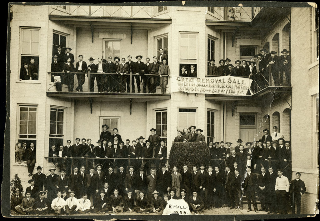 B. Hall and its residents, 1905. di_02421