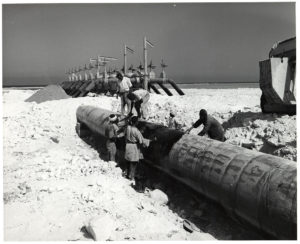 Pipeline maintenance in Libya, ca. 1960. ExxonMobil Historical Collection. di_02921