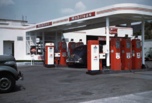 Mobilgas service station, ca. 1940–50. ExxonMobil Historical Collection. di_03805