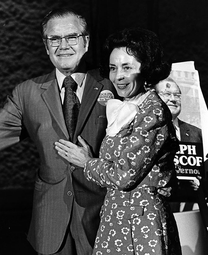 Dolph and Janey Briscoe at a Briscoe for Governor campaign event, ca. 1972. Dolph Briscoe Papers. di_03989