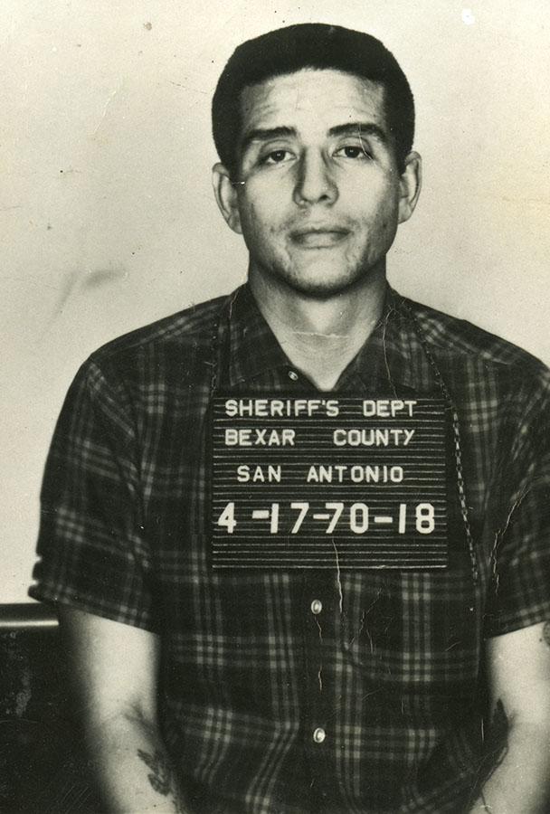 Bexar County Sheriff's Department mugshot of Fred Cruz, April 17, 1970. di_04197