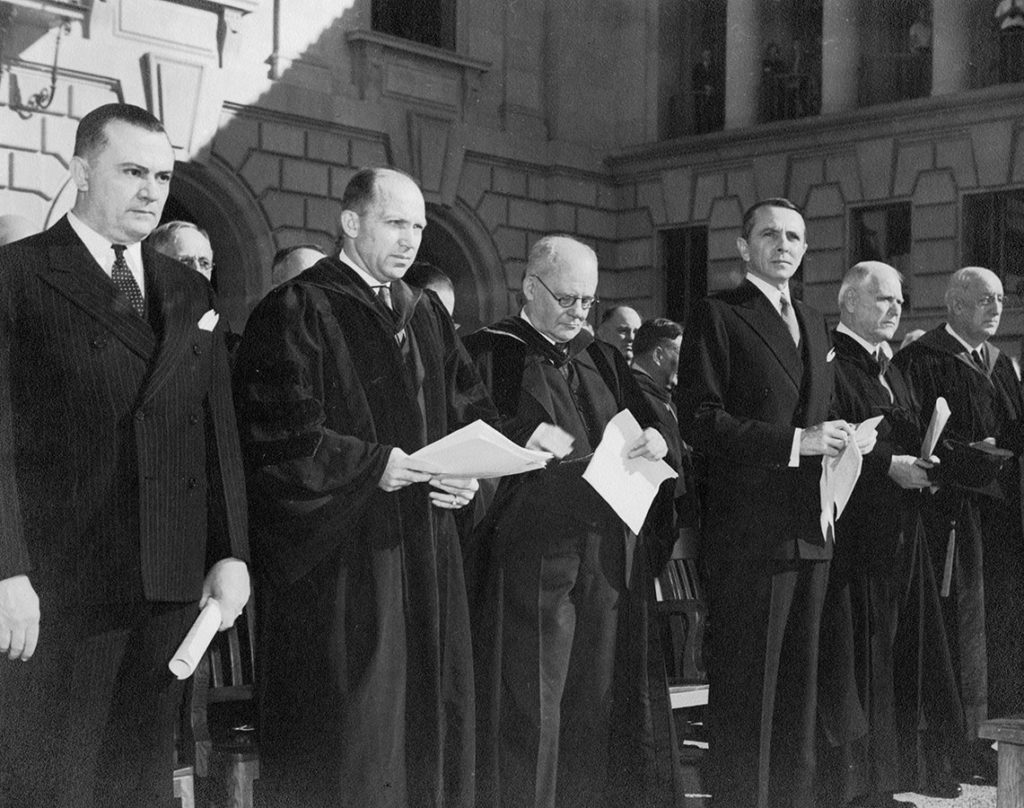The inauguration of Homer P. Rainey as president of the University of Texas, December 9, 1939. di_06878