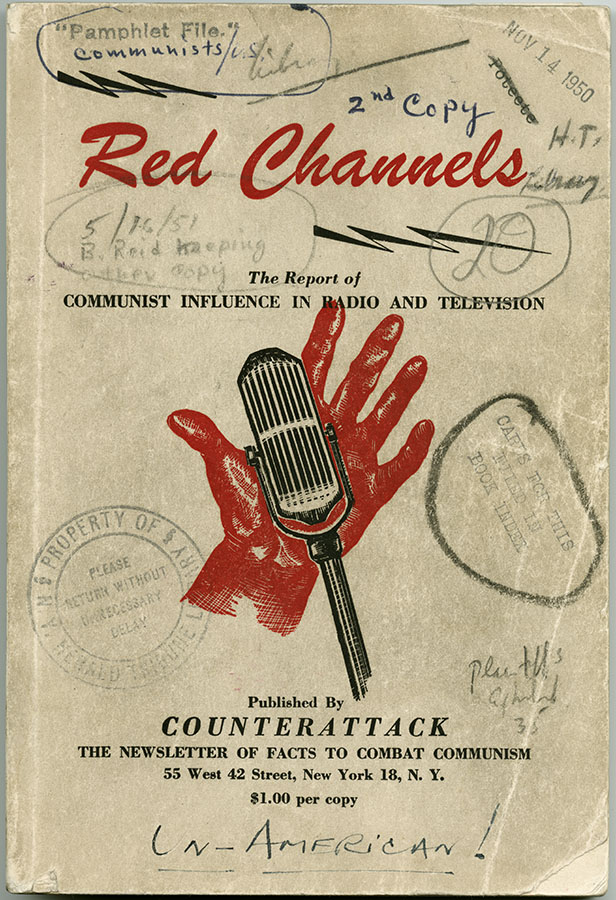 Red Channels, June 1950. John Henry Faulk vs. AWARE, Inc., Laurence A. Johnson and Vincent Hartnett Case Records. di_07189