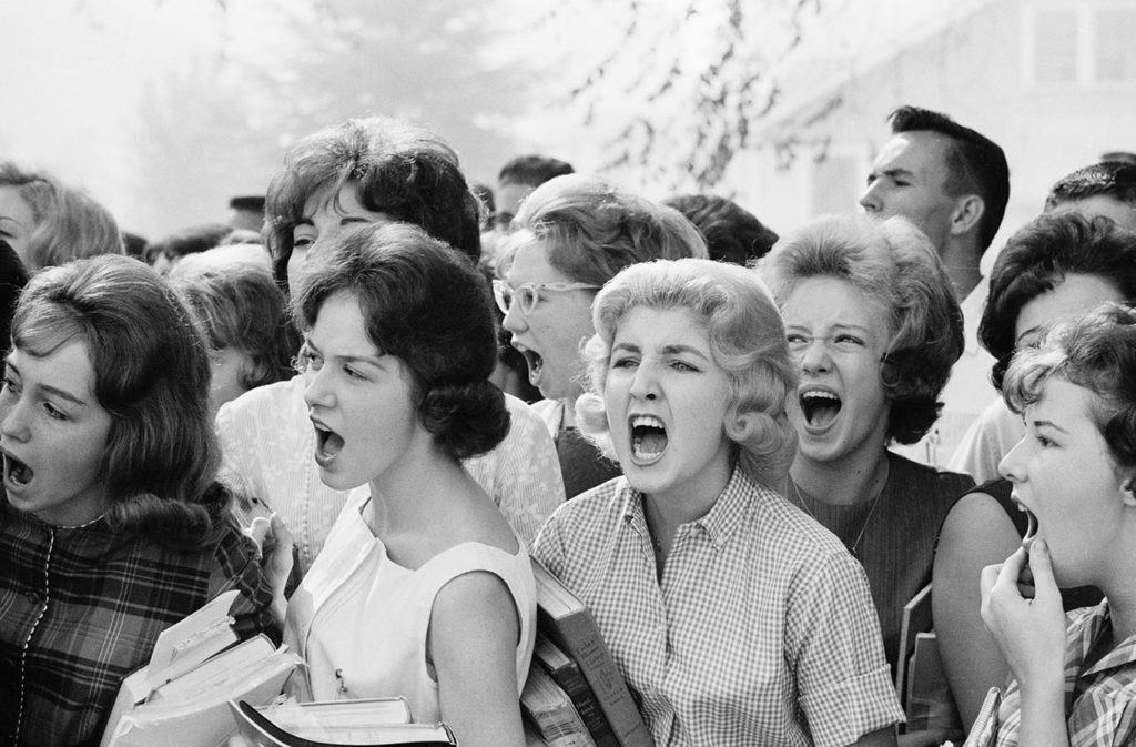 Students protest against school integration, Montgomery, Alabama, September 10, 1963. Photo by Flip Schulke. di_08125