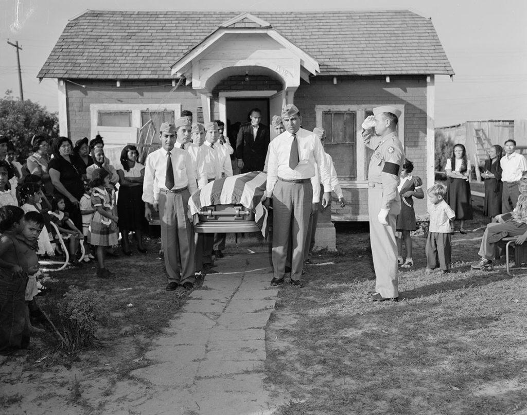 Funeral of a Korean War veteran, Kingsville, Texas, October 28, 1951. Photo by Jimmie Dodd. di_08163