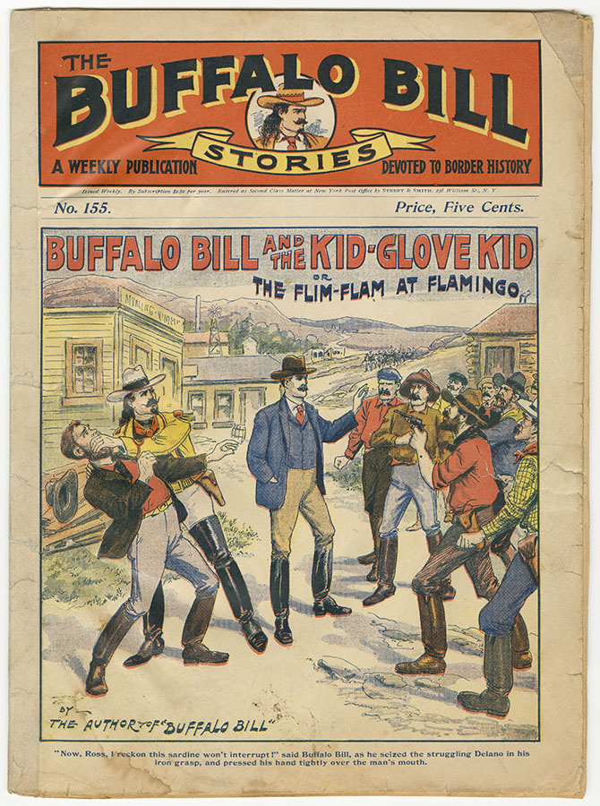 """Buffalo Bill and the Kid-Glove Kid or, The Flim-Flam at Flamingo,"" no. 155 from Buffalo Bill Stories, 1904. di_08880"