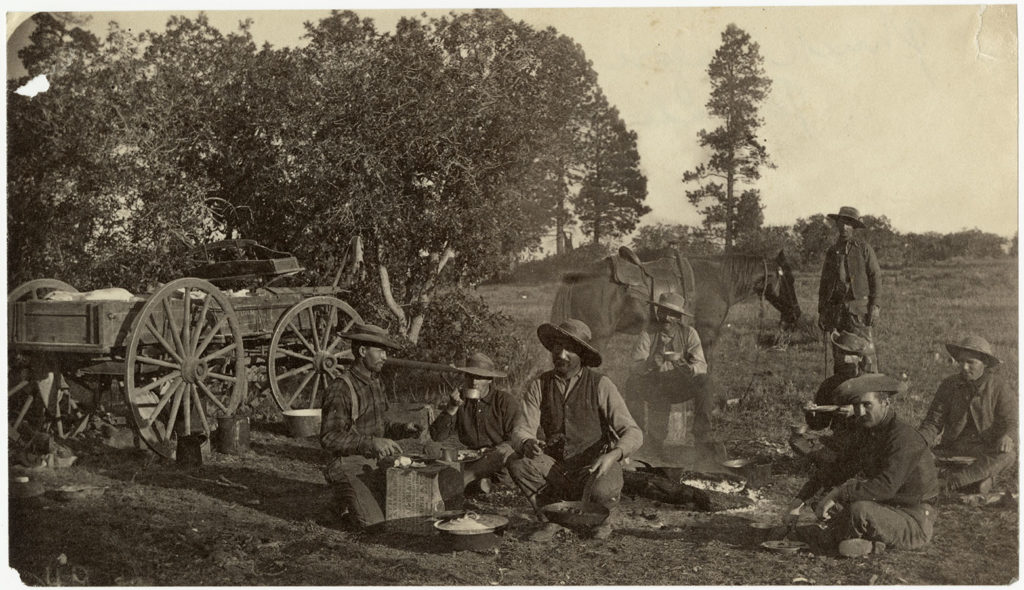 Chuck wagon on the ranch, 1880. Prints and Photographs Collection. di_08902