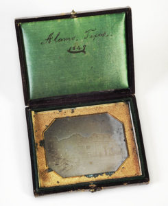 Alamo daguerreotype, 1849. Dolph Briscoe Papers, Gift of Governor Dolph and Mrs. Janey Briscoe. di_09118