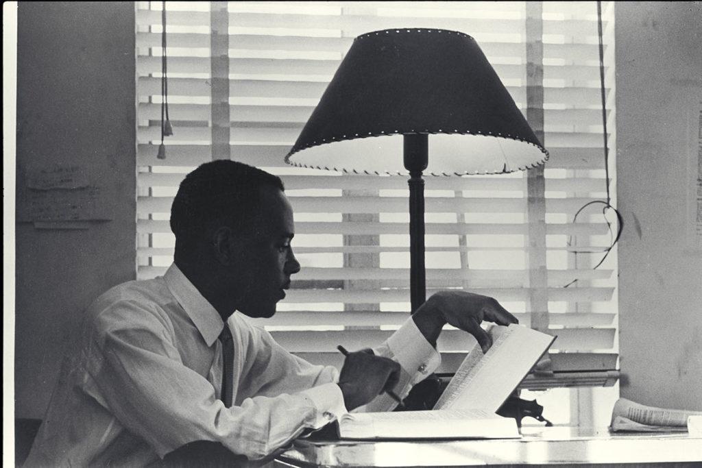 James Meredith in his dorm room, September 10, 1962. Photo by Flip Schulke. Flip Schulke Photographic Archive. e_fs_0853_IMG0034