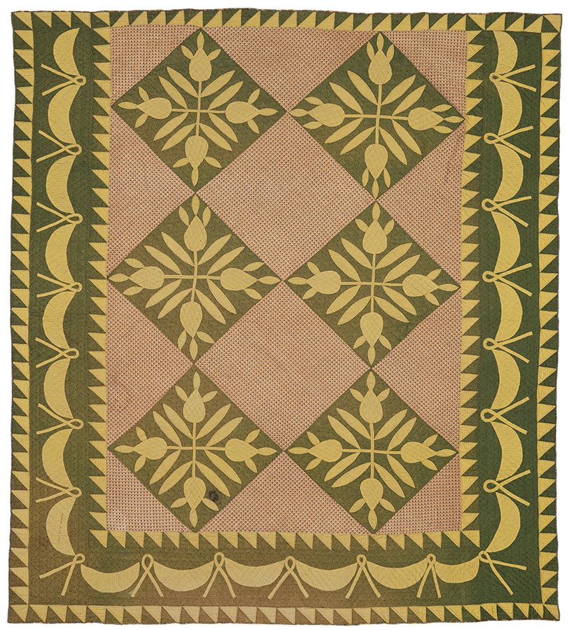 Pineapple, Pennsylvania, 1849. Winedale Quilt Collection, Ima Hogg Quilt Collection. e_wqh_0422
