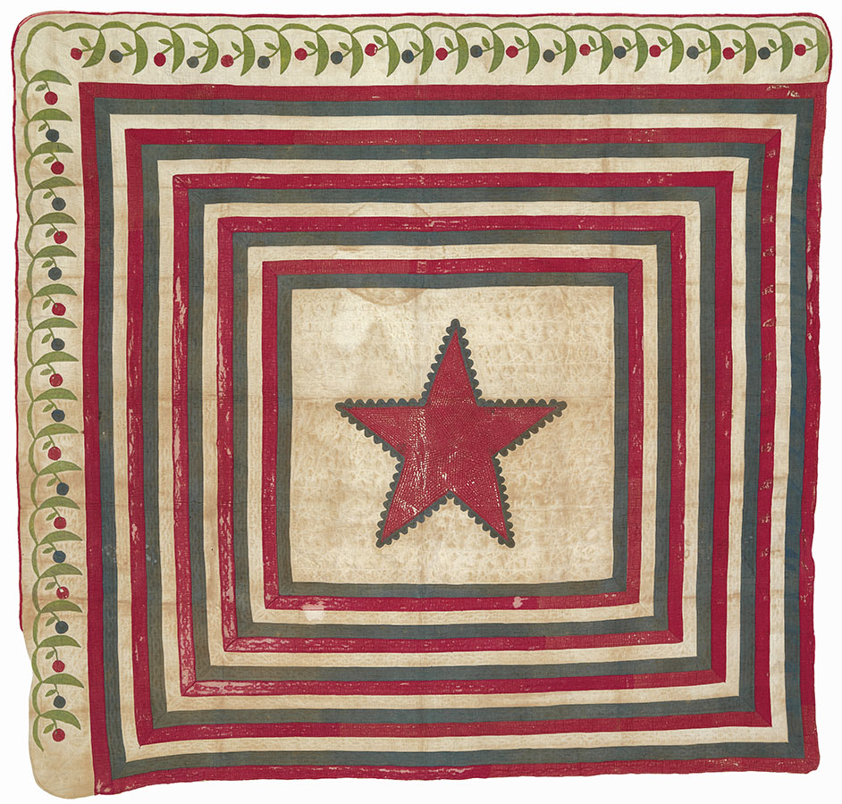 Lone Star, Texas, ca. 1858. Winedale Quilt Collection. e_wqh_0437