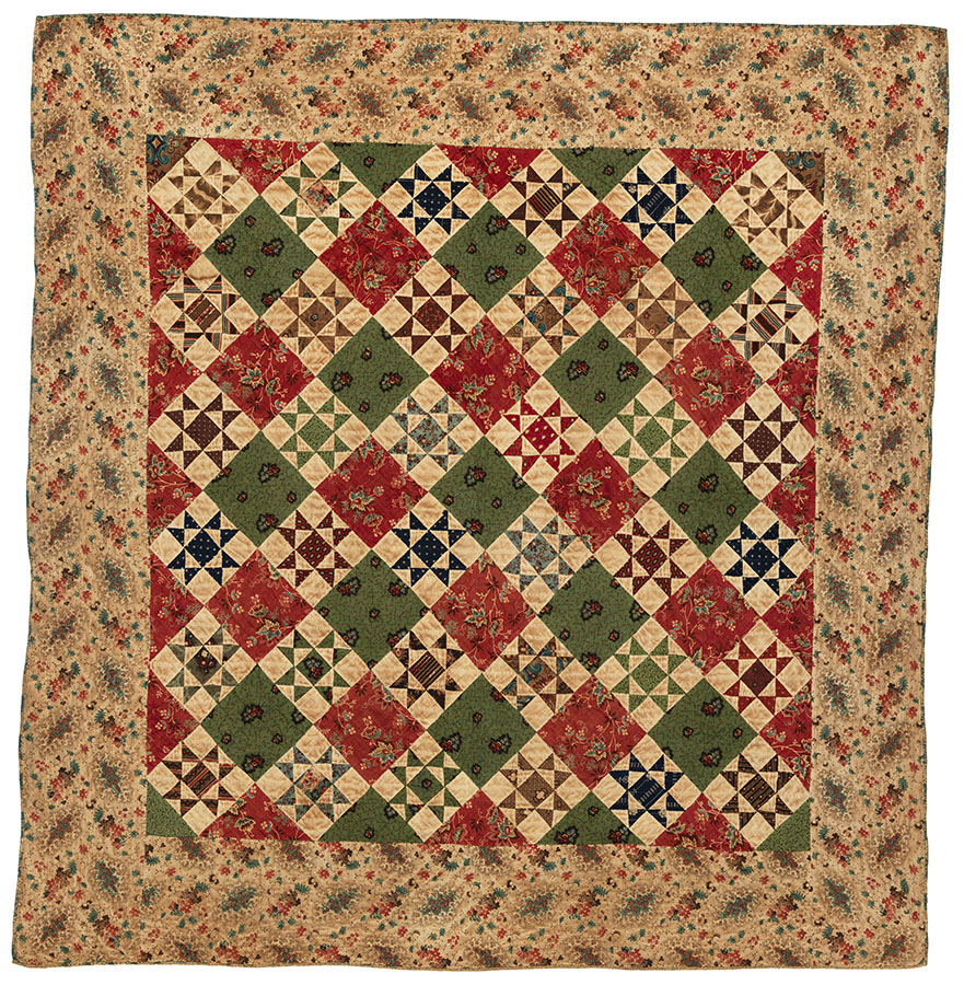 Variable Star Crib Quilt, Pennsylvania, ca. 1865. Winedale Quilt Collection, Miller-Ward-Herr Family Quilt Collection. e_wqh_0440