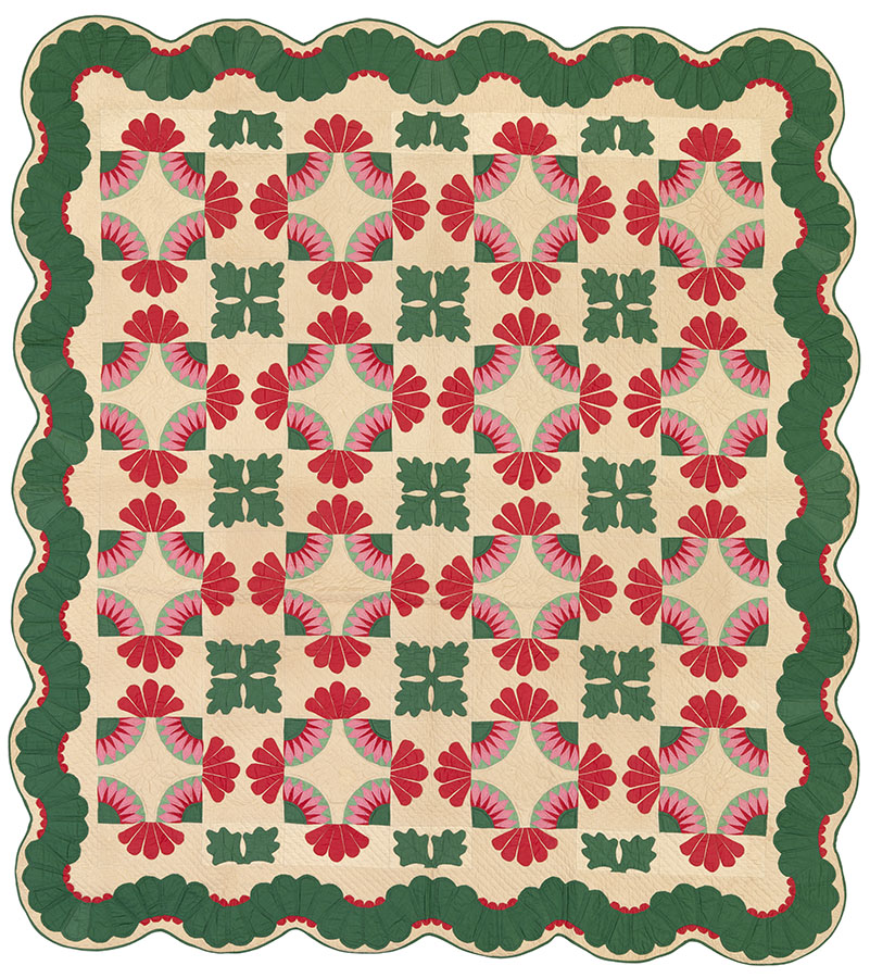 Lotus, Illinois, 1934. Winedale Quilt Collection, Joyce Gross Quilt History Collection. e_wqh_0471