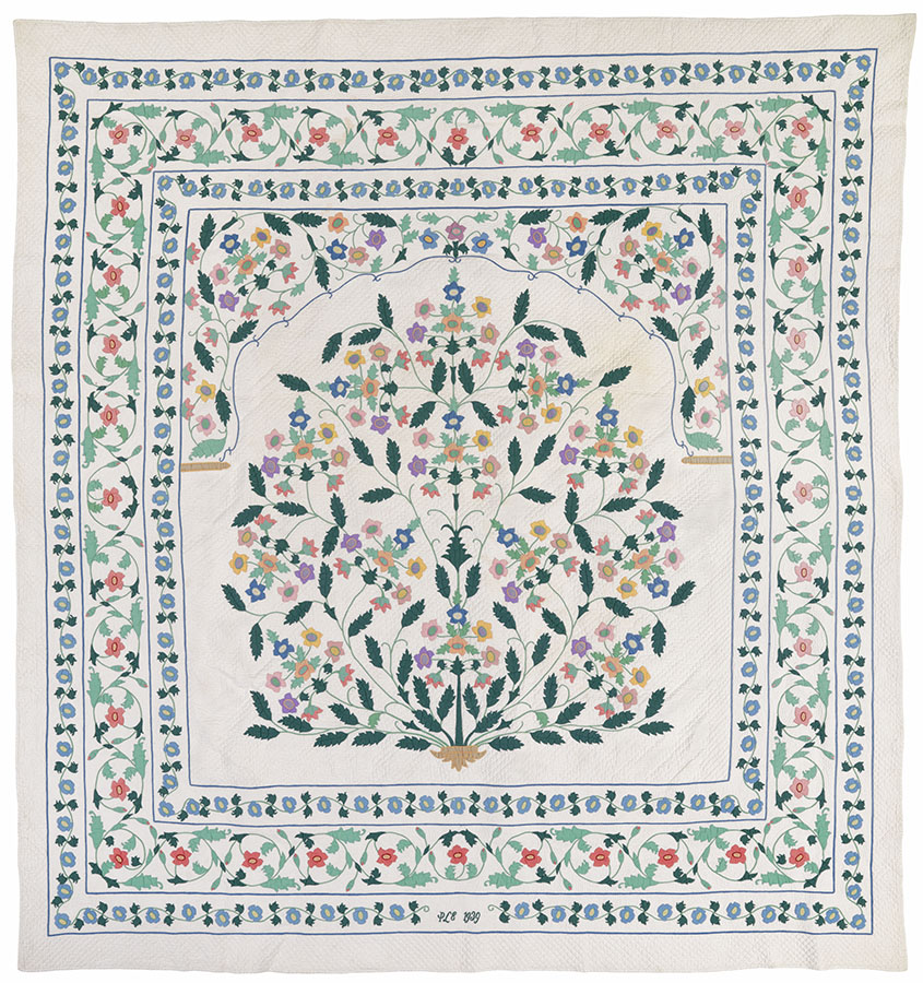 Tree of Life, New York, 1939. Winedale Quilt Collection, Joyce Gross Quilt History Collection. e_wqh_0485