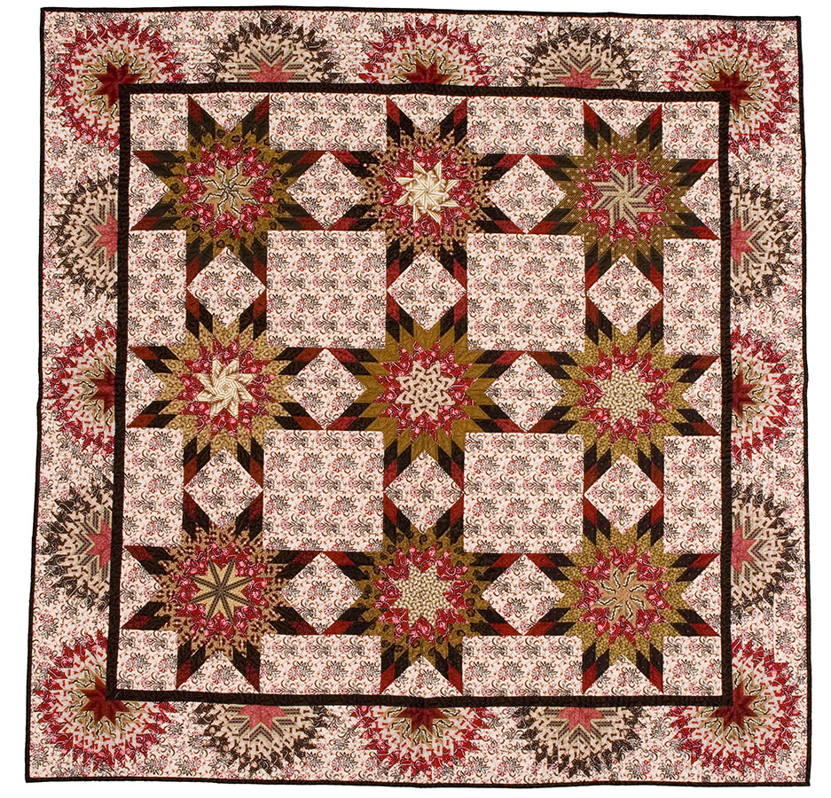 Traveling Stars with Sunbursts Texas, 2001. Kathleen H. McCrady Quilt History Collection. e_wqh_0558