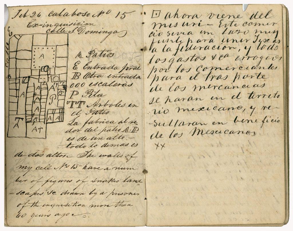 Stephen F. Austin's prison diary, 1833–35. foth_0071