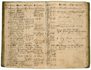 Register of landings in Natchez, Mississippi, June 1836. Natchez Trace Collection, Steamboat Collection. foth_0424
