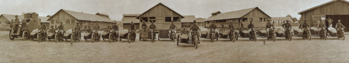 Motorcycle Corps, Fort Brown, Texas, ca. 1914–17. Photo by Robert Runyon. run_12506