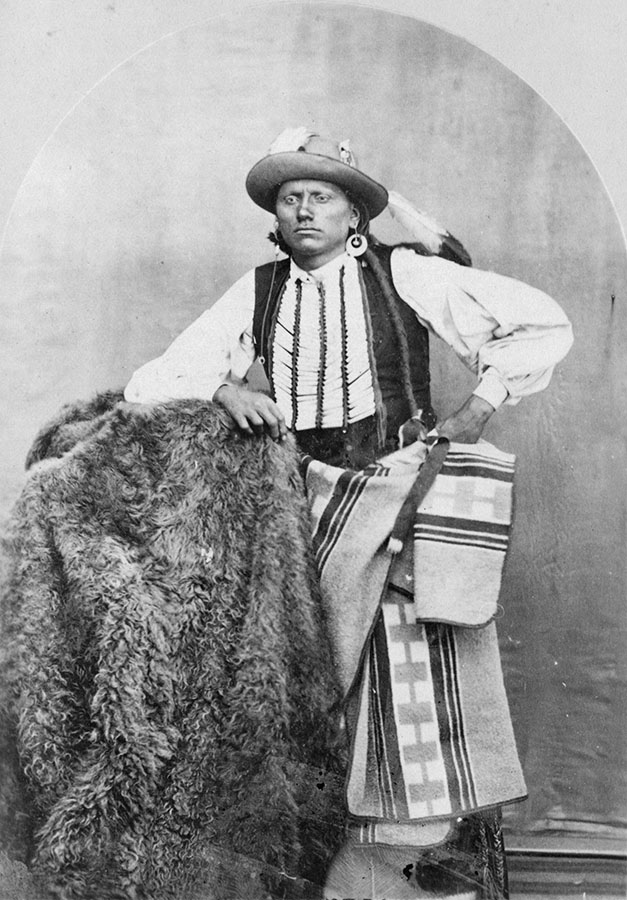 Portrait of Quanah Parker, ca. 1867–74. Photo by William S. Soule. di_05437