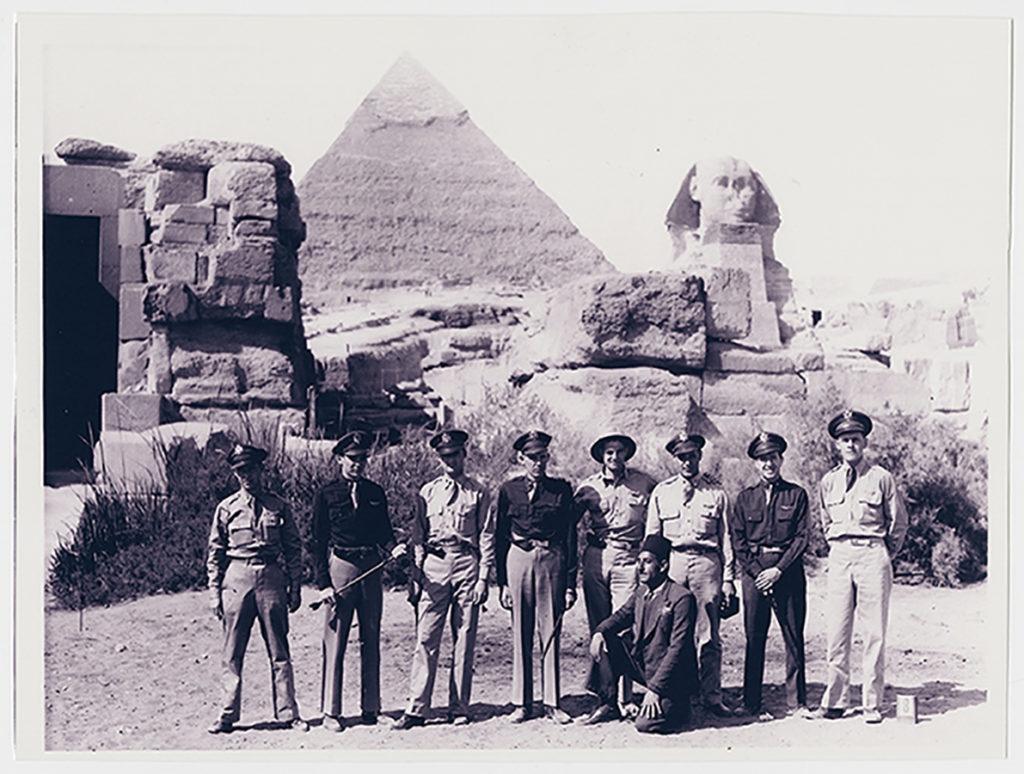 376th HBG servicemen in Egypt, ca. 1942–44. e_376th_0007