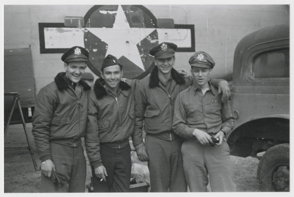 376th HBG servicemen in front of aircraft, ca. 1942–44. e_376th_0008