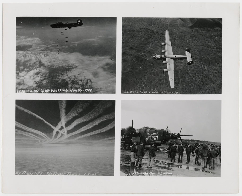 Photographs of bomber aircraft and bombing missions, ca. 1944–45. e_376th_0027