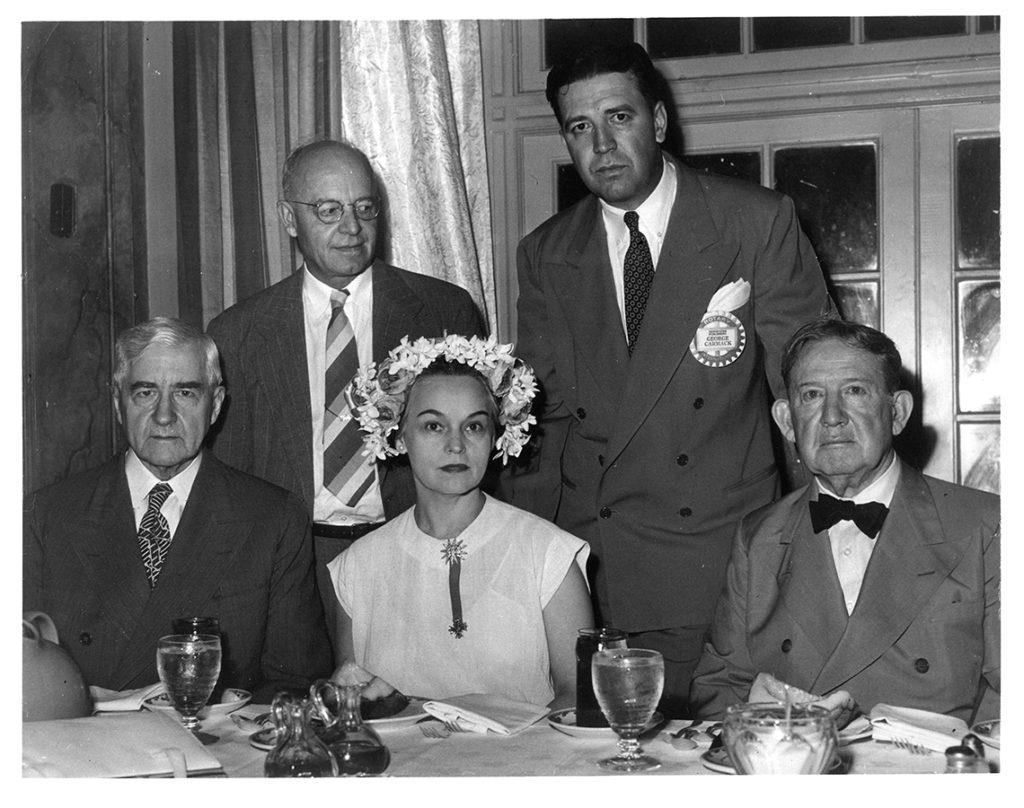 Houston's newspaper establishment during the Red Scare: Jesse H. Jones, M. E. Walter, Oveta Culp Hobby, George Carmack, and former governor William P. Hobby. di_01366sm