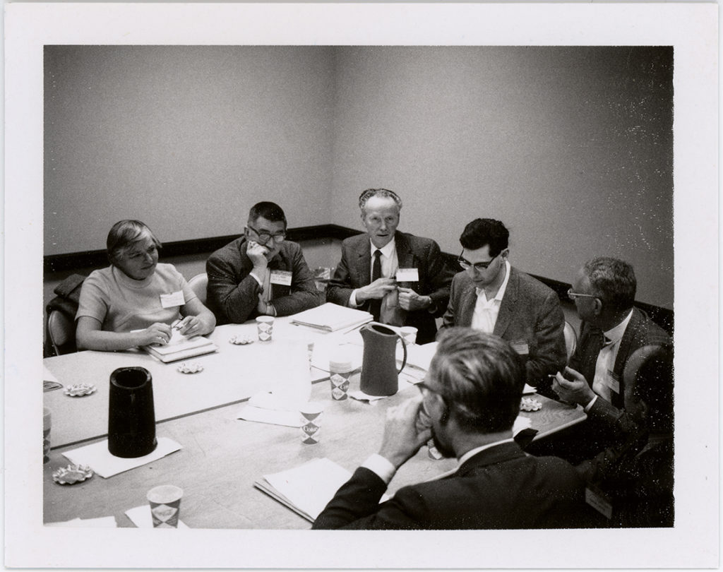MAA Publications Committee at AMS-MAA winter meeting in San Antonio, Texas, January 1970. e_ph_01903
