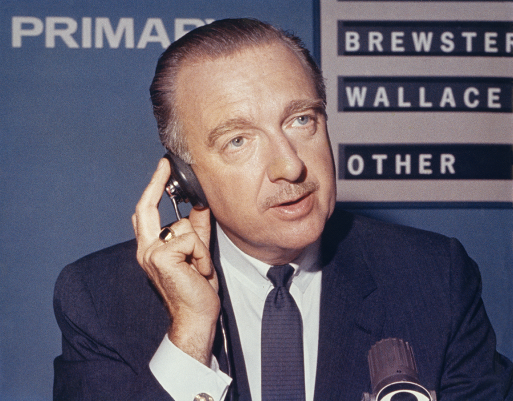 Walter Cronkite reporting on the 1964 Democratic presidential primary for CBS News. di_05809