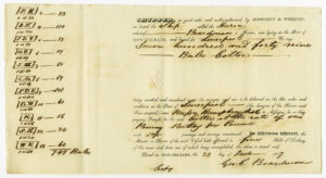 Receipt for 749 bales of cotton, New Orleans, 1837. Natchez Trace Collection, Small Manuscript Collections-Nugent and Turpin Records. ntc_0154