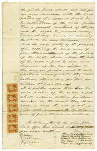 Sharecropper's agreement, 1866. Natchez Trace Collection, Small Manuscript Collections-Eliza Green Papers. ntc_0213b