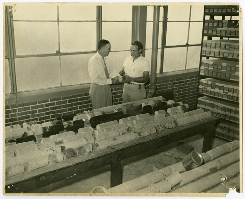 Well sample library, Dr. J. E. Lansdale, Dr. Dan E. Ferey, undated. UT Bureau of Economic Geology Records. e_enr_009.