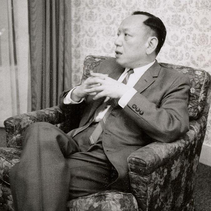 Shiing-Shen Chern in San Antonio for the AMS-MAA winter meeting, San Antonio, Texas, January 25, 1970, Paul R. Halmos Photograph Collection. e_ph_03621