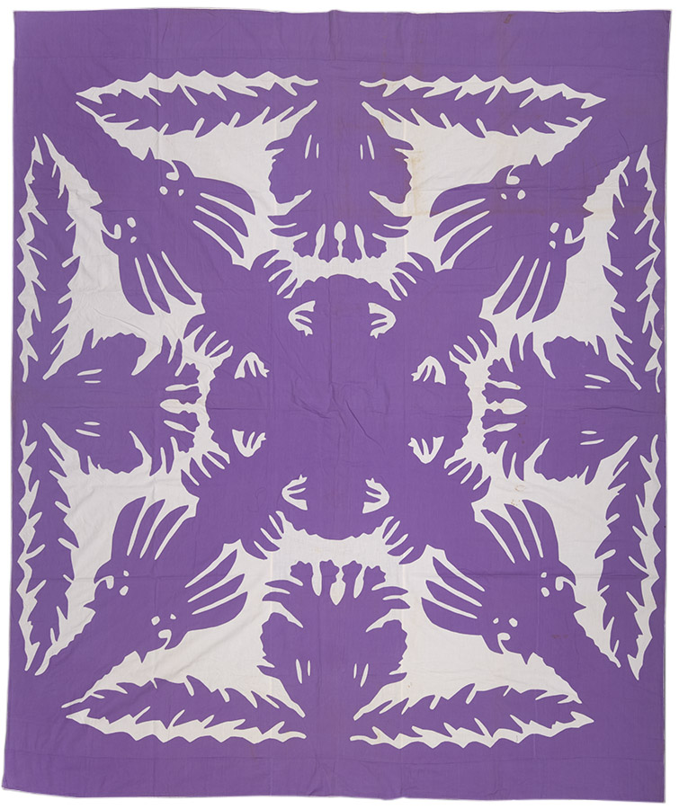 Hawaiian Summer Spread , 1935-1938. Winedale Quilt Collection, Sherry Cook Quilt Collection. e_wqh_0218