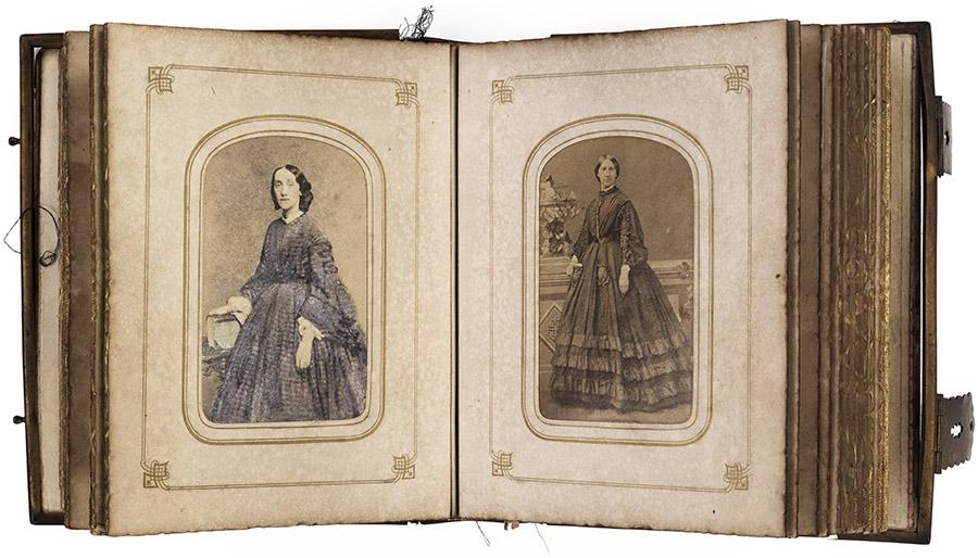 Page from carte de visite photograph album, circa 1860-1879. Natchez Trace Collection, Photograph Collection. di_09775