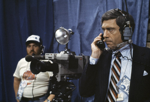 "Dan Rather, CBS News, August 1980. Robert ""Bob"" McNeely Photographic Archive. e_rmc_0110"