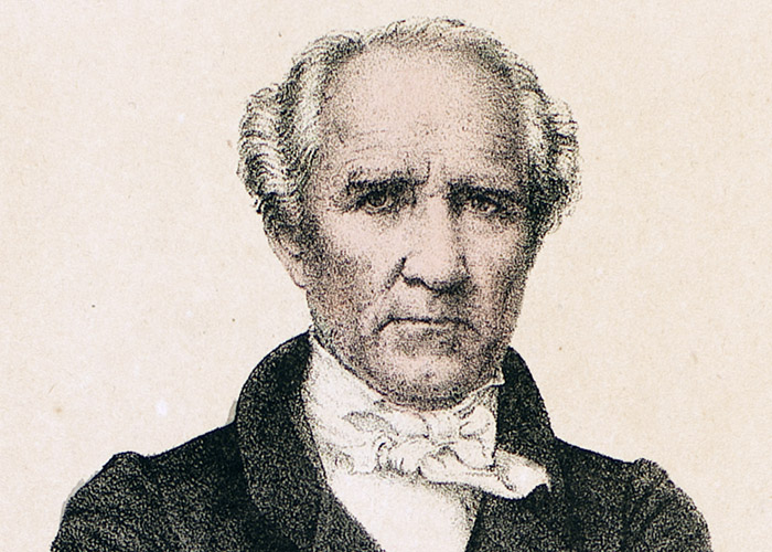 Detail from a lithograph of Sam Houston, 1852. Prints and Photographs Collection. di_07567