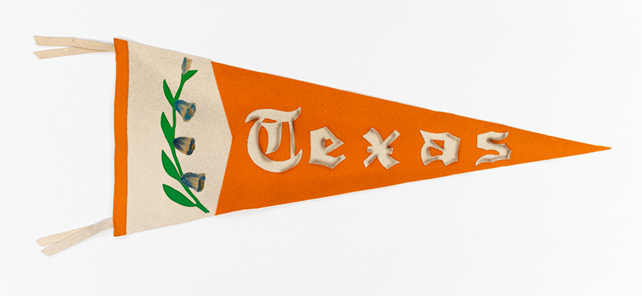 Longhorn Pennants, undated. UT Artifact Collection. e_uta_00170
