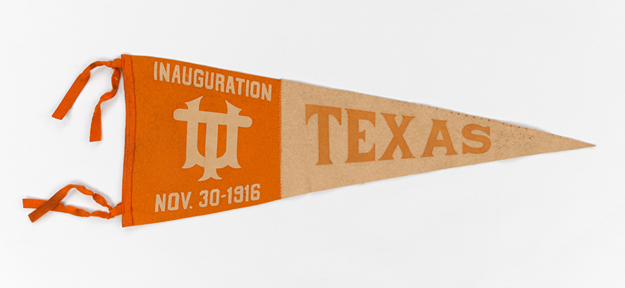 Longhorn Pennants, undated. UT Artifact Collection. e_uta_00172