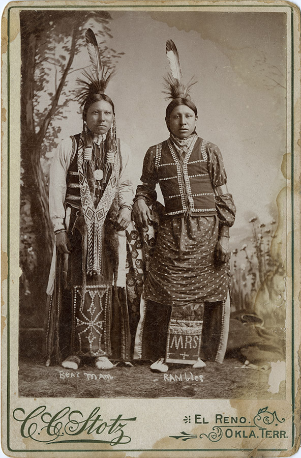 Portrait of two Native American men, undated. John L. Haynes Papers. e_jlh_1186