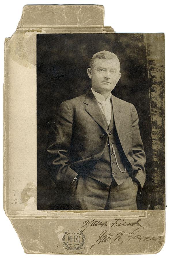Portrait of John Garner signed, 'Your Friend John N. Garner'