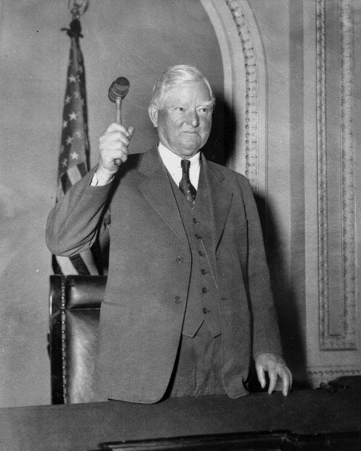 Speaker John Nance Garner with gavel, Washington D.C.
