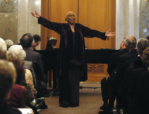 Barbara Conrad performs American spirituals at private concert, UT Austin, April 11, 2005.