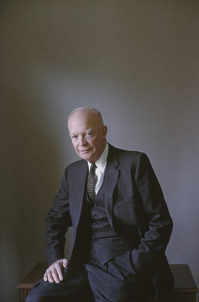 Former U.S. president Dwight Eisenhower, circa 1964. Robert Freson Photographic Archive. e_rf_0001
