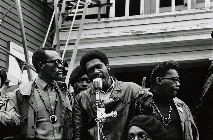 Bobby Seale speaks at Defermery Park in Oakland, CA, July 28, 1968. Stephen Shames Photographic Archive. e_shames_0006