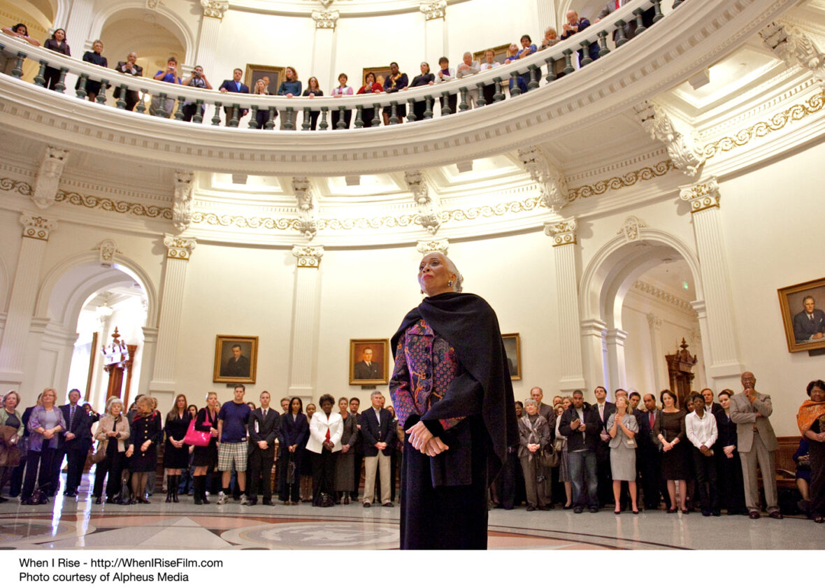 Barbara Smith Conrad in the Rotunda of the Texas Capitol, February 5, 2007.
